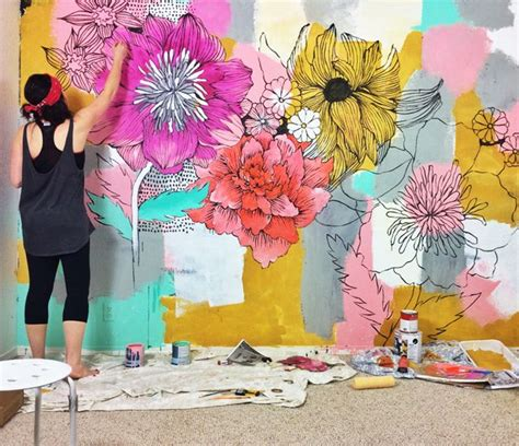 how to paint a mural on a bedroom wall 25 best ideas about painted wall murals on