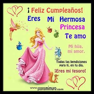 Feliz cumpleaños mi princesa Cosas para mi muro