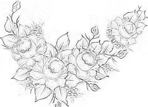 Cantinho da Jana: Riscos de rosas para pintura em tecido