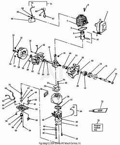 Poulan 1920 Gas Blower Parts Diagram For Power Unit