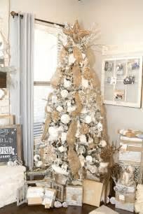 farmhouse christmas decor with a neutral christmas tree and mantel