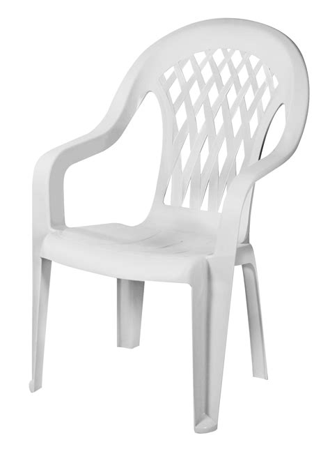 gracious living lattice high back chair white shop your