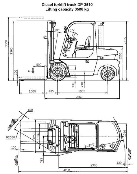 forklift dimensions google search demo reel drawings