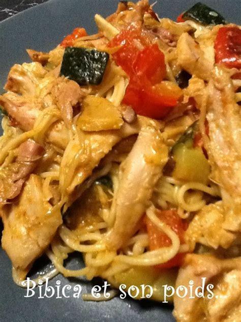 comment cuisiner poulet fumé poulet fumé et légumes au curry et nouilles