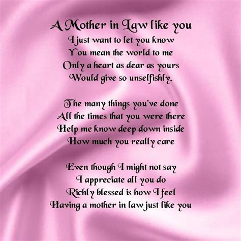 personalised coaster mother  law poem pink silk