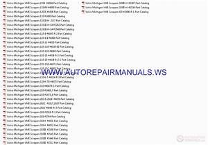Auto Repair Manuals  Volvo Michigan Vme Scrapers Part Catalog