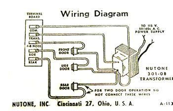 Vintage Diagram Showing How Wire Door Chime Three