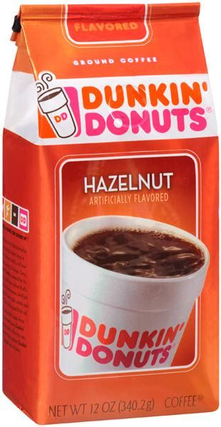 Has been added to your cart. Dunkin Donuts Hazelnut Ground Coffee   Hy-Vee Aisles Online Grocery Shopping