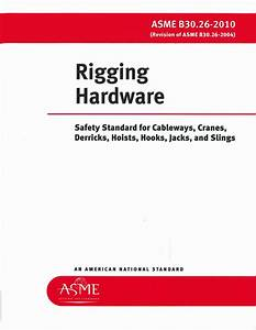 B30 26 Rigging Hardware 2015  U2013 Crane Institute Of America