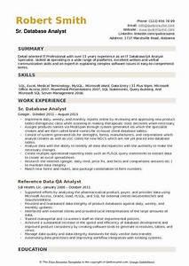 Database Analyst Resume Samples