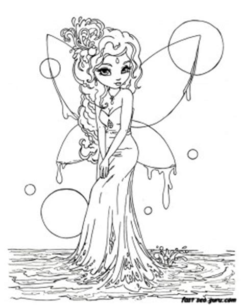 printable beautiful fairy  water coloring  pages  printable coloring pages  kids