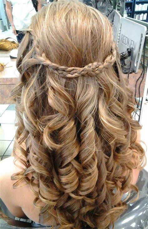 prom hair curls  braid prom pinterest naturally
