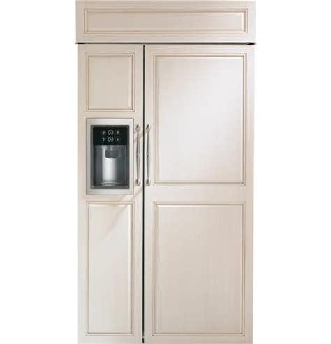 zisbdh ge monogram  built  side  side refrigerator  dispenser custom panel