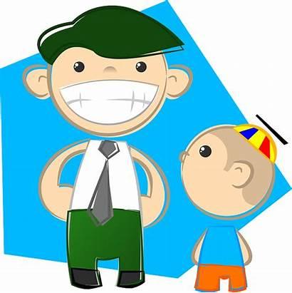 Father Dad Clipart Son Familiar Padre Hijo
