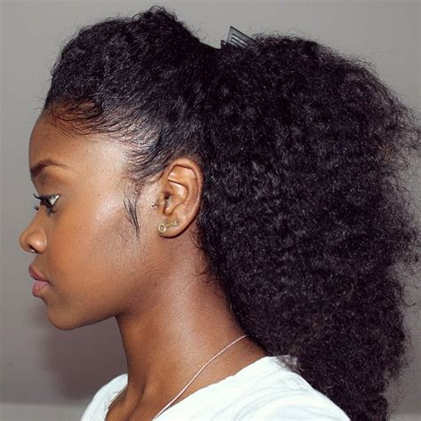 flawlesshairstyle stretched out hair half up half