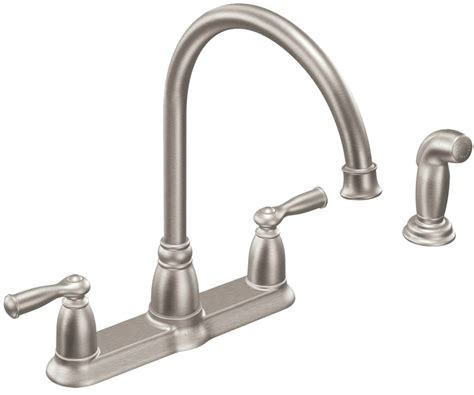 moen banbury kitchen faucet moen banbury kitchen faucet 8 7 8 in spout 8 in center lever handle