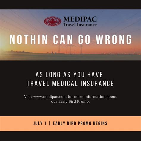 Also, some travel destinations abroad have medical coverage requirements for incoming travelers. July 1, 2018 - Medipac has officially launched the Early Bird Promo - a program offering ...