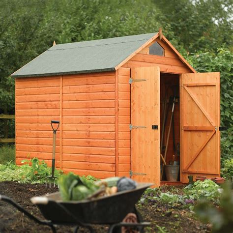 6 x 8 foot wooden shed 6 5 quot x 8 ft 1 9 x 2 5m wooden shiplap apex security