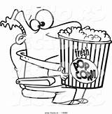 Popcorn Coloring Cartoon Bucket Vector Drawing Entertainment Holding Leishman Awards Outlined Film Ron Flower Clipartmag Nominations Deserving Winners Clipart Divyajanani sketch template