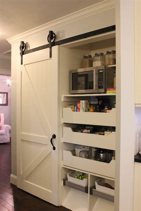 what to put in kitchen canisters kitchen pantry with sliding barn door traditional