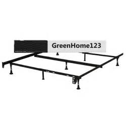 queen size metal bed frame with glides and headboard