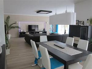 Wohnzimmer Mit Essbereich : wohnzimmer 39 wohn esszimmer k che in neuem glanz 39 unser traum vom haus zimmerschau ~ Watch28wear.com Haus und Dekorationen