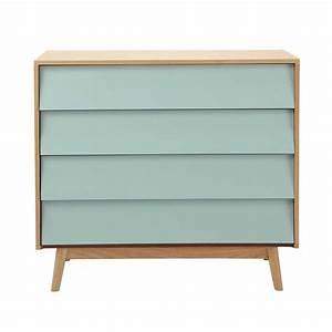 Maison Du Monde Commode : commode vintage en bois bleue l 90 cm fjord maisons du monde ~ Teatrodelosmanantiales.com Idées de Décoration