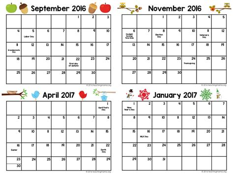 printable preschool calendars qualads