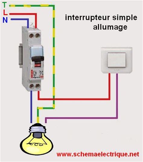 interrupteur pour le de bureau schéma électrique interrupteur simple allumage branchement
