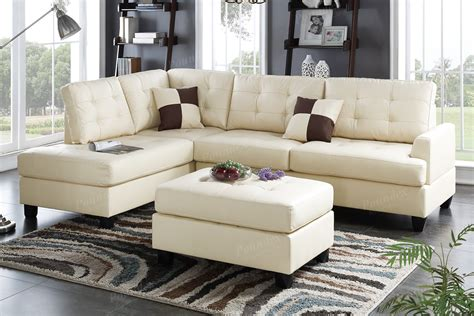 canapé ottoman beige leather sectional sofa and ottoman a sofa