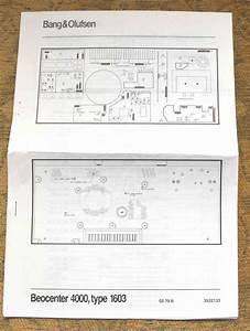 Bang  U0026 Olufsen Beocenter 4000  Type 1603 Wiring Diagrams