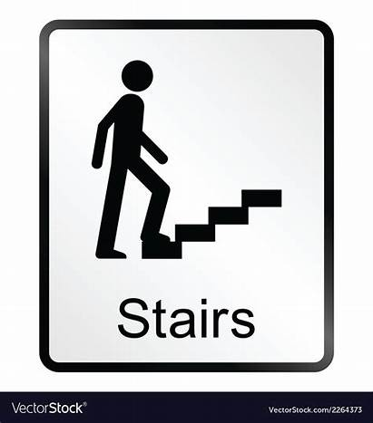 Stairs Sign Vector Staircase Royalty