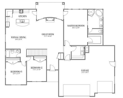 floor house plans rambler house plan monarch floor decobizz