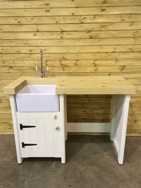 Small Kitchen Sink Unit by Details About Pine Freestanding Kitchen Utility Room