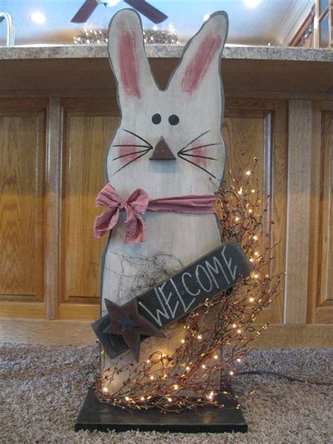 Bunny Easter Wooden Crafts Pinterest