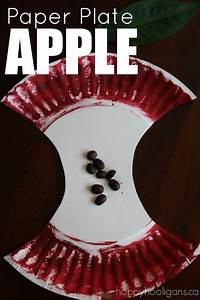 Paper, Plate, Apple, Craft, For, Preschoolers