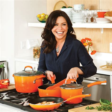 rachael ray cookware cooking enamel nonstick piece rachel hard kitchen does she porcelain rays gradient makes