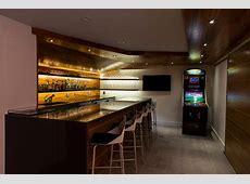 milton basement fitout Modern Home Bar boston by