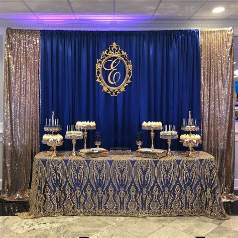 Dessert table and backdrop by us: albanian party must