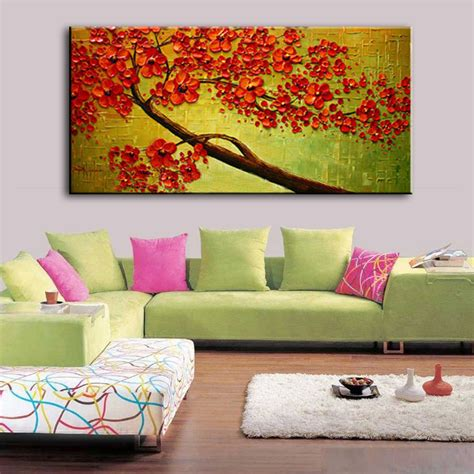 New Handmade Modern Canvas On Oil Paintings Home Living