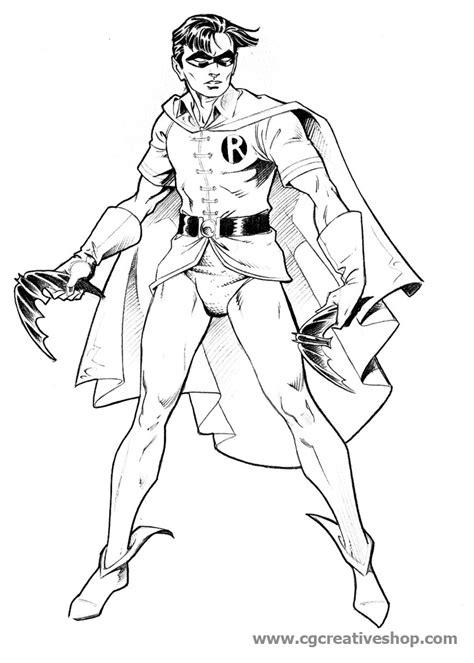 disegni da colorare batman e robin assistente di batman disegno da colorare