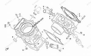 Arctic Cat Side By Side 2009 Oem Parts Diagram For Cylinder Assembly