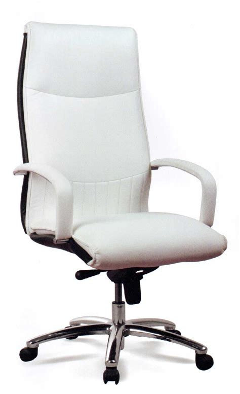white office desk chair attachment white executive office chair 1250