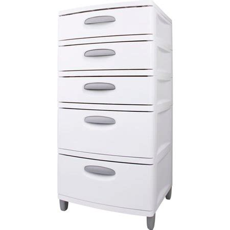 sterilite 5 drawer cart sterilite 5 drawer unit white walmart