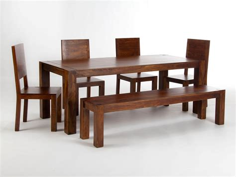 table a manger avec chaise table 200x90 avec banc et 4 chaises monrovia pour salle à