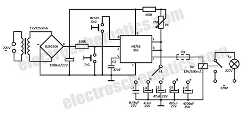 Time Delay Relay Circuit With