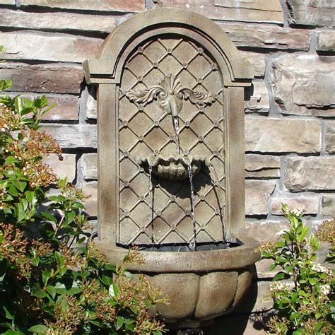 garden wall fountains design ideas