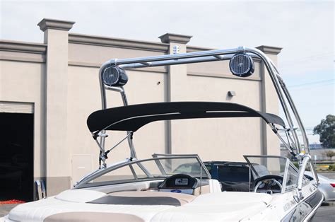 Four Winns Boat Mirror by Four Winns Boat With Custom Tower And Bimini Top