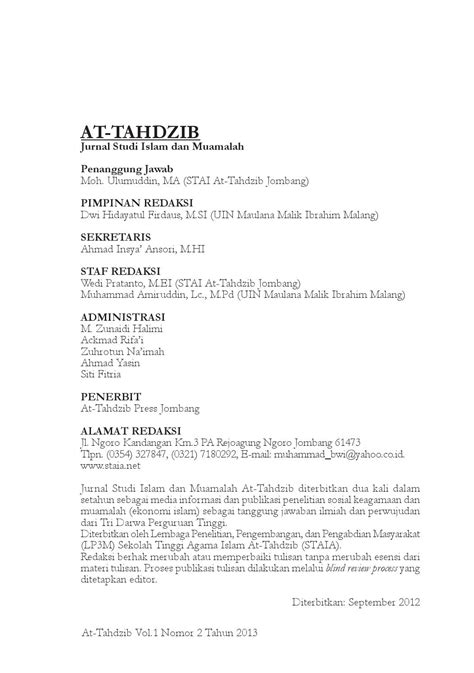 At tahdzib 2 daftar isi by jurnal at-tahdzib - Issuu