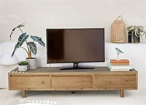 Mobile Tv A 3 Cassetti In Legno Di Pino Riciclato